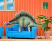 Stegosaurus dinosaur diorama art print: Plant Eater