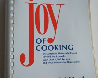 Joy of Cooking by Irma S. Rombauer and Marion Rombauer Becker 1997 plastic comb binding Cookbook Recipes
