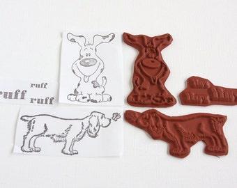 Dog Rubber Stamps Unmounted Red Rubber Stamp Unmounted Stamp Cute Dogs Pet Canine Scrapbooking Rubber Stamping Card Making
