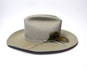 Resistol Long Oval 7x Beaver Cowboy Hat, Size 6 3/4