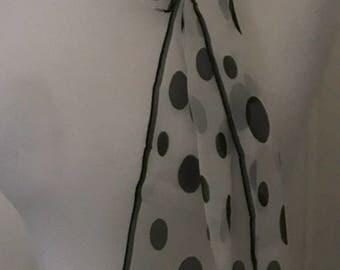 Vintage Oscar De La Renta Silk Spot Scarf
