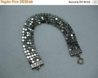 SALE 50% OFF Beautiful Unique Vintage Silvertone Mesh Bracelet