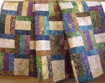 Batik Quilt, Homemade Quilt, Patchwork Quilt, Lap Quilt, Quilted Throw, Handmade Quilt, Sofa Quilt, Home Decor, Quilts