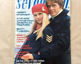 Vintage 1970's Fashion Magazine, 70's SEVENTEEN Magazine, October 1971, Vintage Ads, 70's Style Inspo, 70s Teen Fashion
