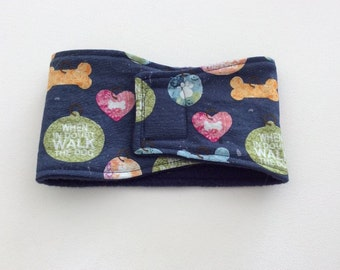 Belly Bands for Male Dogs - Belly Band - Male Dog Diapers - Male Dog Belly Band - When in Doubt Walk the Dog-Available in all Sizes