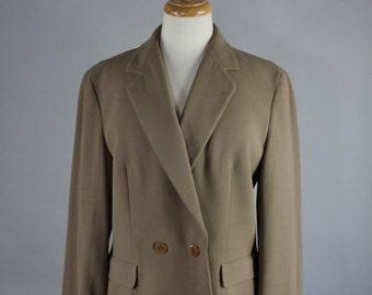 90s Women's Giorgio Armani Jacket Blazer, Brown, Neutral, Minimal, Office, Professional, Earth Tone Wear to Work, Size Medium