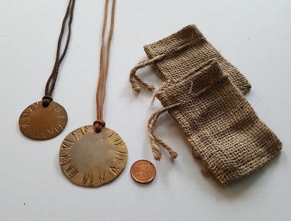 Mother Daughter Gift ~ Pendant Necklaces ~ His N Hers Gifts Valentine's Day Present Shipped Worldwide Hand Forged Accessories with Gift Bag