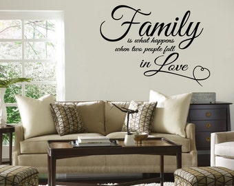 Family Love Quote Vinyl WALL DECAL STICKER Vinyl Wall Lettering/Words Inspiration