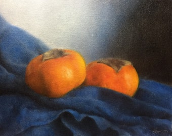 Fuyu Persimmons Painting by Jonathan Aller