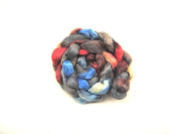 BALLAD Hand-Dyed Wensleydale Combed Top/Roving-4 ounces