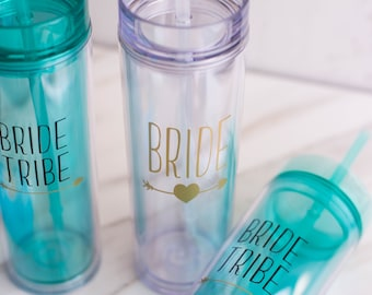 Bride Tribe Tumbler - Bachelorette Party - Bride Tribe Gifts - Bridesmaid Tumbler - Bridal Party Gifts -Bride Tribe Cups - Bridesmaid Gift