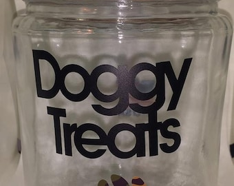 Dog Treat Jar Doggy Treats Camo Paw Print   Ready To Ship