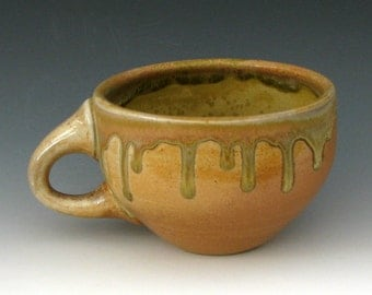 WOOD FIRED CUP #4 - Ceramic Cup - Stoneware Cup - Pottery Cup - Wood Fired Pottery - Large Cup - Coffee Cup - Studio Pottery