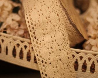 Ivory Crochet Ribbon