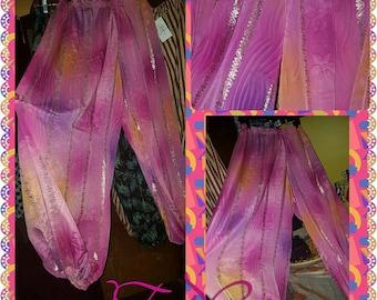 100% Silk Multi Colored Sari 4 1/2yd Pantaloons