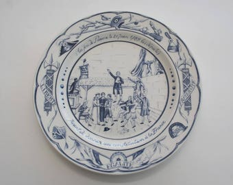 Vintage celebration ceramic plate, Collector plate, Bastille day, French Revolution Gift idea.