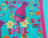 Troll Smile Childrens or Travel size  Pillow Case