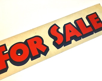 Vintage For Sale Sign, Realty Sign, Industrial Decor, Signage, Wall Decor