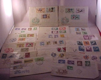Postage Stamps from Hungary 18 First Day Issue Envelopes
