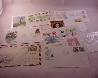 8 First Day Issue Postage Stamps US and Canada