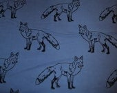 Flannel pants pajama dorm lounge made to order your choice size XS - 2X  denim blue fox print