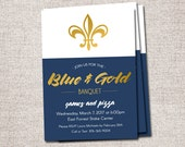 Blue and Gold Banquet invitations, Blue and Gold banquet invite, LDS, Scouts: PRINTABLE