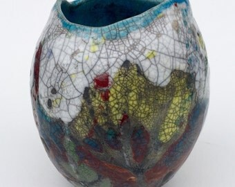 Raku Pot Wild Cornwall MADE TO ORDER