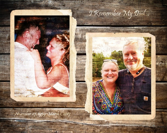 In Memory of a Lost Loved One REAL WOOD print Custom  16x20