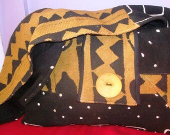 Black an Tan Mudcloth Sistah Bag