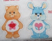 Springs Care Bear Cousins Proud Heart Cat Swift Heart Rabbit Stamped Craft Fabric Panel Print Cut stuff and Sew