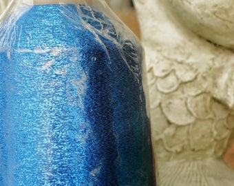 Metallic Thread, Blue, Metallic Cone,  Ultra Fine Blending Fibers, Yarn Threads,