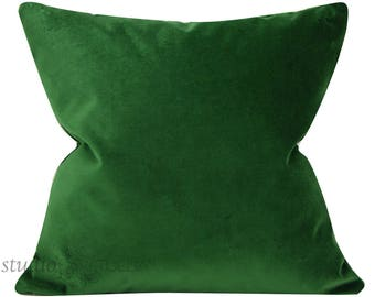 Emerald Velvet Pillow Cover - 17 1/2 X 17 1/2 - Decorative Pillow Cover - green velvet - designer velvet - emerald - ready to ship