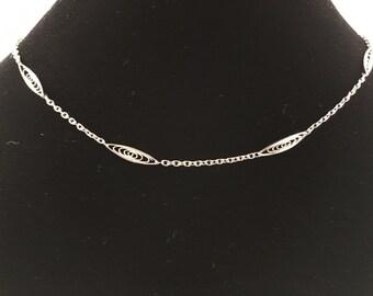 Napier Delicate Choker Necklace, Vintage Jewelry, Napier Jewelry, Vintage Necklace, Simple Necklace, Silver Vintage Choker, Napier Choker