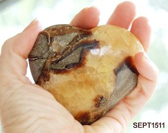 Septarian Stone Heart | Septarian Heart | Dragon Stone Heart | Septarian Nodule | Polished from Madagascar 3 inch SEPT1511