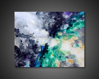 Large Canvas Art - abstract canvas art, abstract art painting, canvas ART PRINTs, modern painting, giclee print, abstract wall art, 31x40