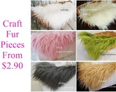 Craft Fur Small Size Mongolian Faux Fur Fabric, Photography Accents, Craft Fur, Craft Supplies, Fur Trims, Decorations
