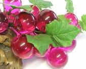 Dark Pink Lucite Grapes Retro Cluster Rare Color Eames Era MCM Gorgeous Lucite /Acrylic Vintage 60s Decorator Item