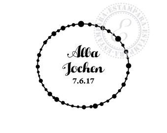Custom wedding stamp . Personalisierbarer Hochzeitsstempel, Stempel Hochzeit . Sello boda personalizado con tus datos.