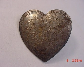 Vintage Mexico Silver Heart   17 - 88