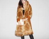 Boxing Day SALE 60% OFF - 1960s Patchwork Fox Fur 3/4 Length Coat   - Vintage Fox Fur Coat  - Vintage Fur Coats   - WO0013