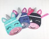 Unicorn purse, pen pouch, planner accessories, planner pouch, unicorn bag, glitter unicorn, accessory bag, travel bag