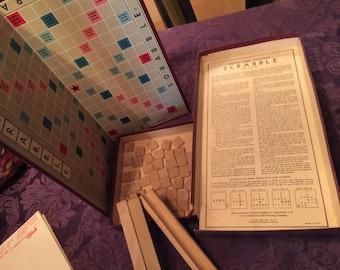 Vintage 1953 Scrabble Game, Complete, Contents Excellent, Box Torn