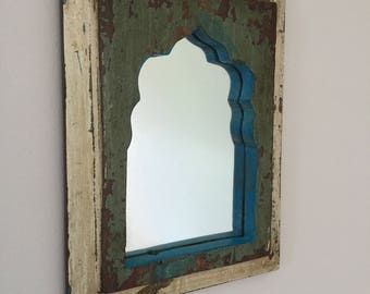 Reclaimed handmade mirror from India