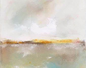 Abstract Seascape Painting -Quiet a Sea 1 12 x 16