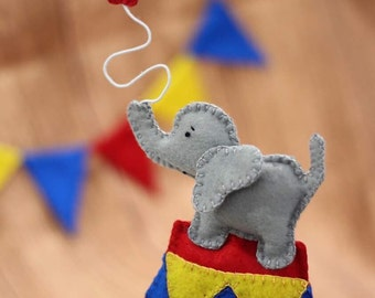 Circus cake topper, Circus Elephant Cake Topper, elephant cake topper, first birthday, baby showers, decor