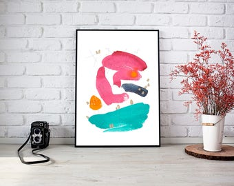 Giclee print of ABSTRACT PAINTING - Maps No.6 - Fine Art Print