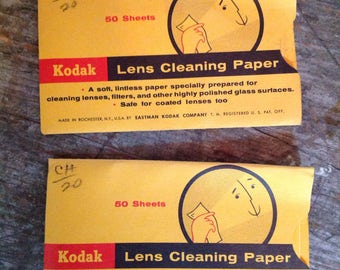 Vintage New in Package Kodak Lens Cleaning Paper 50 Sheets