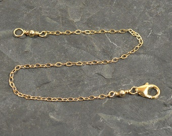 4 Inch Necklace Extender - Gold Plated