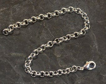 Rolo Chain Necklace Extender - Silver Plated - Choose Your Length