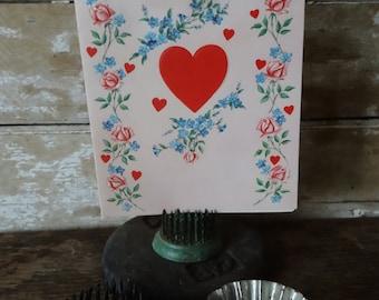 Vintage Valentine Teacher n Pink Heart Sweet 1950's or Earlier Retro